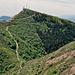 Blick zurück zum Gipfel des Monte Lema 1620m.