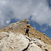 Südgrat von Corn Suvretta, an einige Stellen mussten Felsen ausgewichen werden.