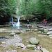 Ein zweiter, grosser, jedoch versteckter Wasserfall im Kemptentobel.