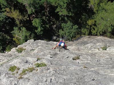 SL2: schöner Dolomitfels, stark strukturiert