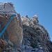 Grat zum Piz Bernina, nach der 2. Scharte sieht schlimmer aus als es ist