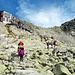 Etwa 250Hm unterhalb des Rysy befindet sich die Berghütte Chata pod Rysmi (2250m). Hier habe ich meinen Rucksack deponiert, da es nur noch 45min. bis zum Gipfel sind.