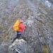 Jana zu Beginn des kurzen Klettersteigs