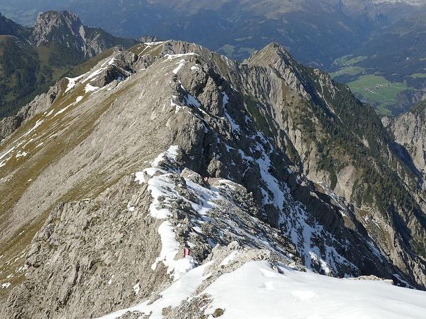 Blick über den Westgrat (Zoomaufnahme)