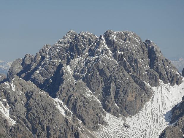 Spitzkofel und Kuhbodenspitze im maximalen Zoom