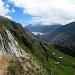 Blick ins Aletschji, im Hintergrund das ewige Eis