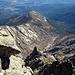 Blick zurück vom Gipfel der Mira (2343m) auf die Aufstiegsroute und meinen Stützpunkt Arenas de San Pedro.