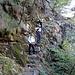 Poco sotto Pronzolo una bella scalinata, se ha ghiacciato è SCONSIGLIABILE