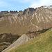 Der obere und mittlere Ostgrat des Türtschhorns. Gut zu erkennen mein späterer Abstieg