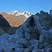 Rimpfischhorn und Strahlhorn, davor die Reste des Zmuttgletschers