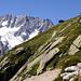Bergseehütte mit einem Teil der Winterberg-Kette