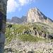 Bergseehütte mit meinem heutigen Gipfelziel, dem Bergseeschijen