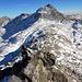 Aufstieg über den Ostgrat Richtung Monte Moro 2985m, im Hintergrund das Joderhorn 3036m