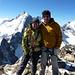 mein Schatz und ich auf dem Gipfel