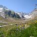Blick zurück Richtung Chelengletscher und hinter Tierberg