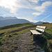 Sitzbank mit Blick zum Alpstein