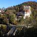 Aussicht vom Bunker auf das Schloss Angenstein.