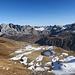 Carschinasee mit Wiss Platta 2627m Schijenflue 2626m und Ronggspitz 2551m vom Chüenihorn 2412m