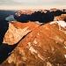 Gipfelbereich des Alvier mit dem Wanderweg hinauf (Drohne)