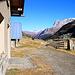 Noch ist der Winter in diesem Jahr Mitte November auf der Alp Niemet noch nicht eingezogen. <br /><br />Ich genoss hier meine Pause mit Blick zurück durchs Val Niemet auf den Piz la Mazza (2815,2m) und die Westgipfel des Piz Grisch (P.3022m).