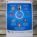 Rifugio Bertacchi (2175m): Italienisches Plakat wie sich die Leute in der Coronakrise verhalten sollten. Lustig ist, dass der einzuhaltende Abstand zwischen Menschen in jedem Land anders ist :-)