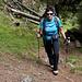 Helene im Aufstieg durch das Val Morts