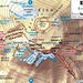 Karte vom Gipfelbereich des Kilimanjaro / Kibo dessen höchster Punkt Uhuru Peak neuerdings durch Stalliten gemessen eine exakte Höhe von 5891,775m hat.