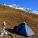 Mein Biwakplatz habe ich oberhalb der Alp Bavugls auf 2070m direkt bei einer Quelle in unmittelbarer Nähe zur Hütte Plattascha gefunden.