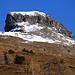 Aussicht vom Zeltbiwak zum Curvér Pintg da Neaza (2720,8m), dem nordwestlichen kleinen Nachbar vom Piz Curvér.
