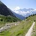 La montée à la Almagellerhütte: Pittoresque mais longue