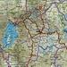 Karte von Ruanda. An der Grenze zu Uganda und der Demokratischen Republik Kongo liegen die Virunga Vulkane mit dem ursprüglich geplanten Aufstieg vom Karisimbi (4507m). In der Landesmitte ist die Hauptstadt Kigali (1567m).