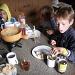 Wohlverdientes Fondue in der Cufercalhütte