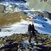 Corinne im kurzen Aufstieg zum Augstberg