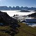 unmittelbar über Hinterwinden, Pt. 1538; der Nebelteppich liegt uns zu Füssen, mit den - immer wieder gern gesehenen - Churfirsten...