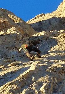 Crux2 über die Steilplatte