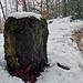 Dieser Stein steht direkt neben einem Grenzstein, ist aber Rund 40cm Hoch.