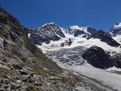 Der wilde Vadret da Tschierva Gletscher