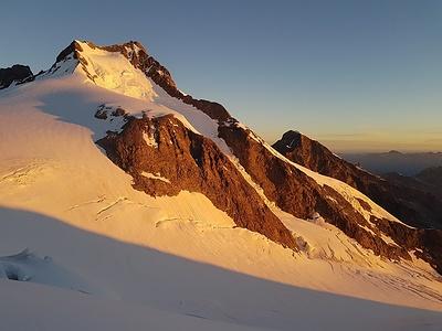 Sonnenaufgang am nächsten Morgen auf 3700m