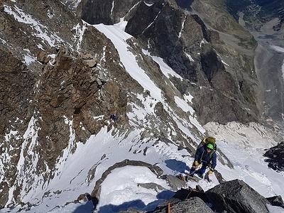 Der Verbindungsgrat zum Bernina: sieht schwieriger aus als er ist