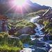 il ricco fiume che ci accompagna fino allo Scerscen