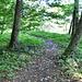 Hier fädelt man nach der Ruine Besserstein auf den Gratpfad ein. Auch im Winter gut sichtbar.