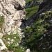 Blick hinab in den Durchlass zum Jochbachtal. Eine spannende Sache!
