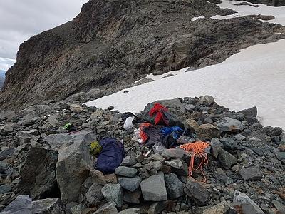 Biwak auf einer Gletschermoräne