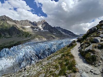 Der gewaltige Argentière Gletscher