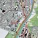 Rot eingezeichnet unsere totoal etwa 11 km lange Tour durch einen Reil Münchensteins zum Sammeln von nicht sachgemäss weggeworfenem Abfall.