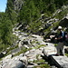Il comodo sentiero lastricato che conduce alla Capanna Alpe d'Arena, veramente ben fatto!