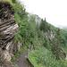 Descente glissante au-dessus de Brüsti