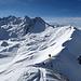 Der Grat vom Mont Carre (2468m) zum  Mont Rouge (2490m)