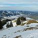 die Aussicht vom Fähnerenspitz nach Appenzell hinunter