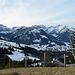 Blick vom Sitzplatz auf Punkt P. 1356 m, zum Alpstein